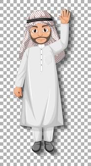 Zeichentrickfigur des arabischen mannes