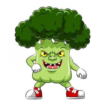 Zeichentrickfigur eines brokkolis der illustration