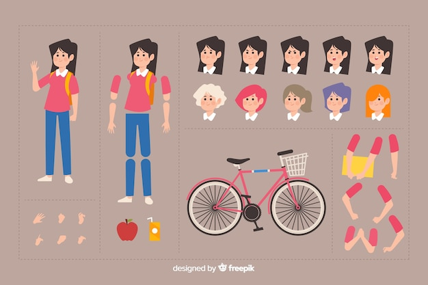 Zeichentrickfigur für bewegungsdesign