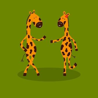 Zeichentrickfiguren giraffen.