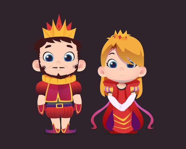 Zeichentrickfiguren von könig und königin