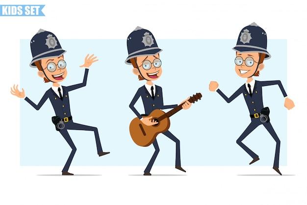 Zeichentrickfilm des britischen polizistenjungenzeichensatzes
