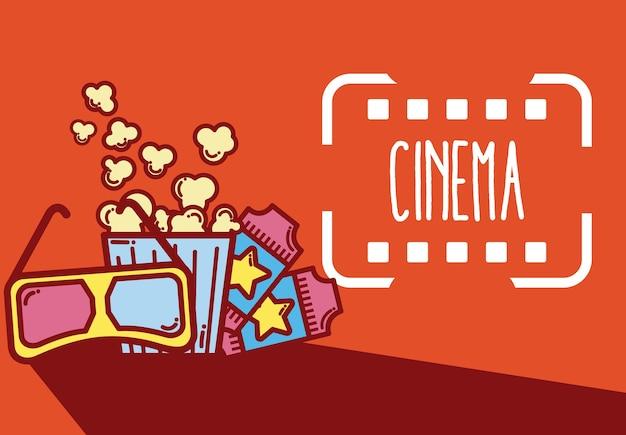 Zeichentrickfilm-elementdesign des kinos niedliche