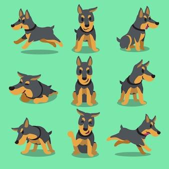 Zeichentrickfilm-figur-dobermann-hundehaltungen