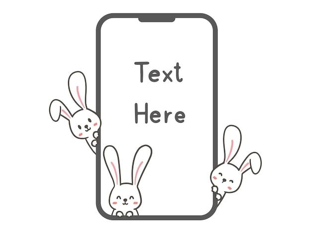 Zeichne süße kaninchen mit dem smartphone