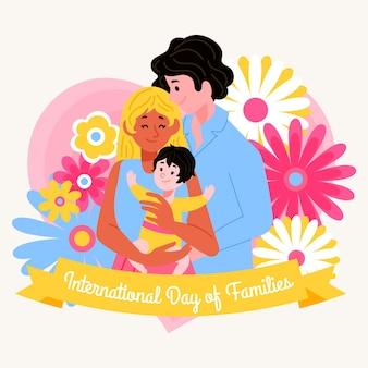 Zeichnen des internationalen tages der familien