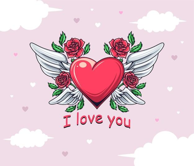 Zeichnen einer herzillustration zum valentinstag