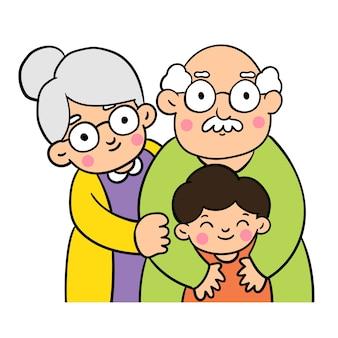 Zeichnen sie doodle stile von großeltern tag.