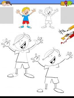 Zeichnen und färben von bildungsaktivitäten für kinder