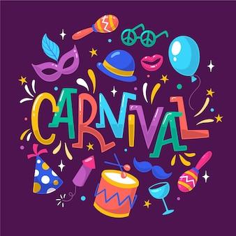 Zeichnung der karnevalsereignisfeier
