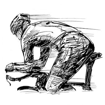 Zeichnung des fahrradwettbewerbs