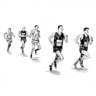 Zeichnung des laufwettbewerbs