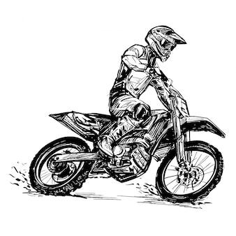 Zeichnung des motorradwettbewerbs