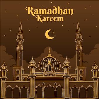 Zeichnung des ramadan-konzepts