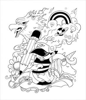 Zeichnung kunstillustration