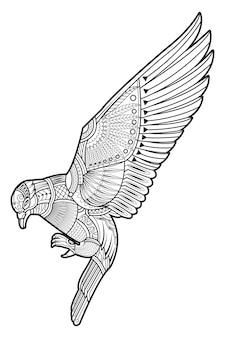Zeichnung taube