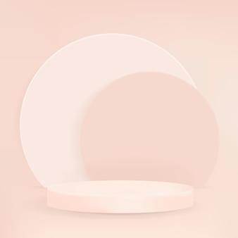 Zeigen sie podium 3d-rendering-vektor minimaler pastellprodukthintergrund an
