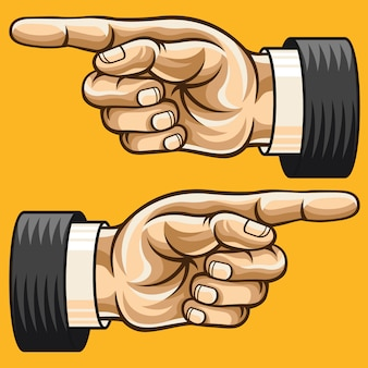 Zeigende hand