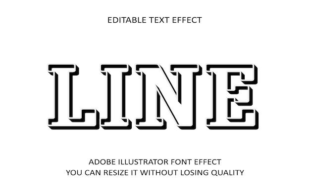 Zeilenbearbeitbarer text effekt