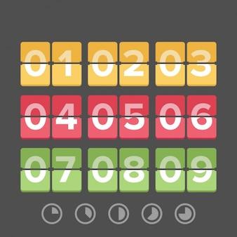 Zeit-countdown-vorlage