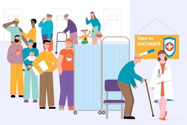 Zeit, die illustration zu impfen