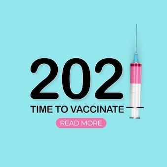 Zeit für die impfung. coronavirus-impfung.