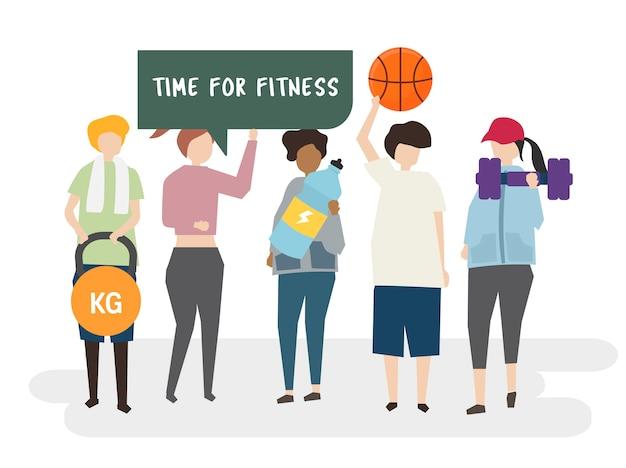 Zeit für fitnesstraining