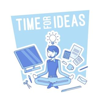 Zeit für ideenillustration