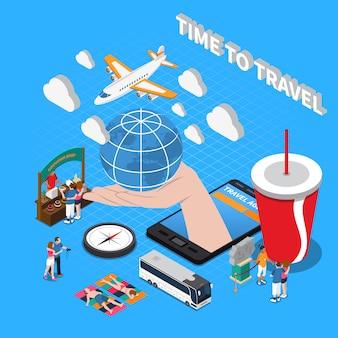 Zeit, isometrische zusammensetzung zu reisen
