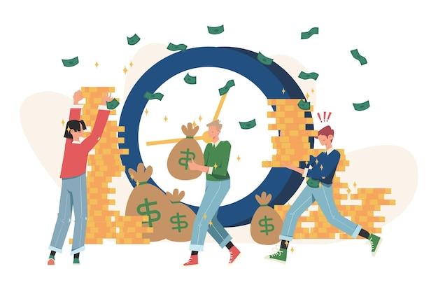 Zeit ist geld, geschäft und finanzen, zahltag