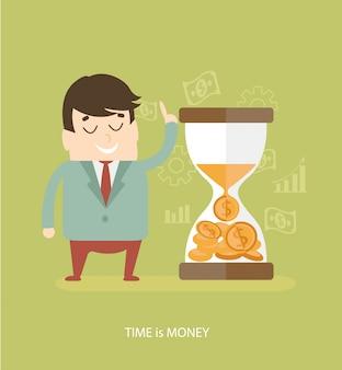 Zeit ist geld - geschäftskonzept.