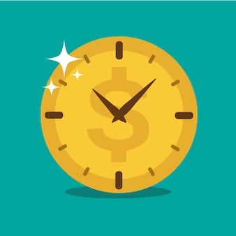 Zeit ist geld hintergrund-design