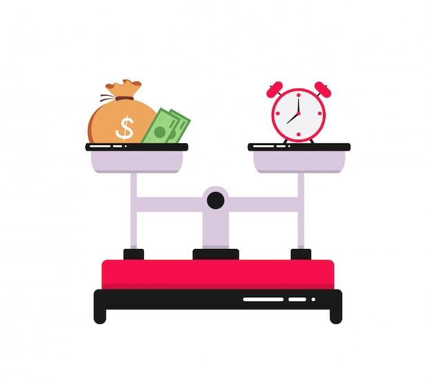 Zeit ist geld konzept