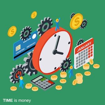 Zeit ist geld, management, geschäftsplanung