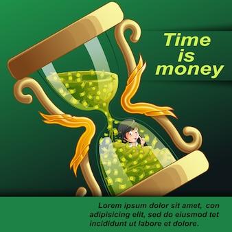 Zeit ist geld.