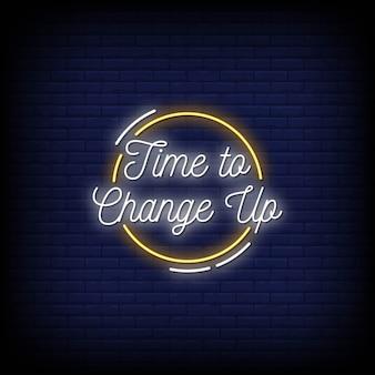 Zeit, neon signs style text zu ändern