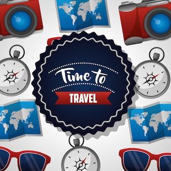 Zeit, um aufkleber zu reisen