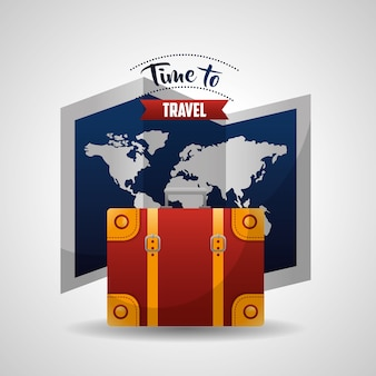 Zeit, um die karte zu reisen