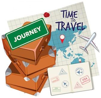 Zeit, um Logo zu reisen