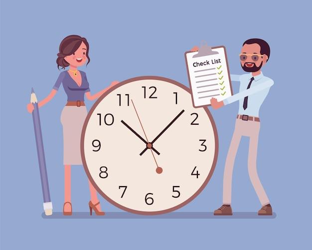 Zeit und pflichten für geschäftsleute