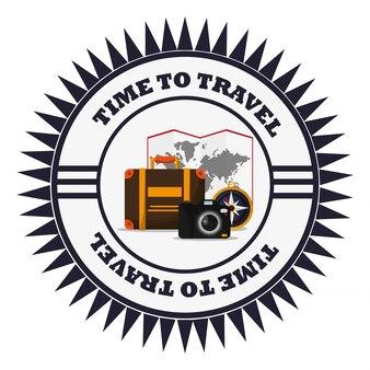 Zeit, urlaub emblem zu reisen