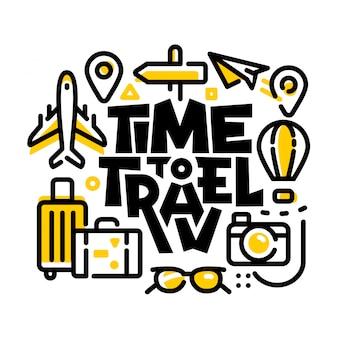 Zeit zu reisen modern line