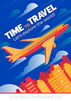Zeit zu reisen plakatgestaltung Kostenlosen Vektoren