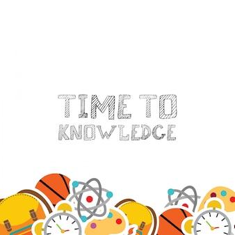 Zeit zum wissenstypographie-designvektor