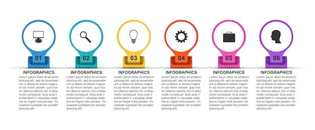 Zeitachse für business-optionen für business-präsentationen