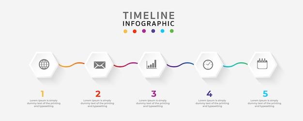 Zeitachse infographics-designschablone vektorillustrator