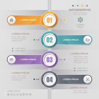 Zeitachse infographics entwurfsvorlage mit symbolen