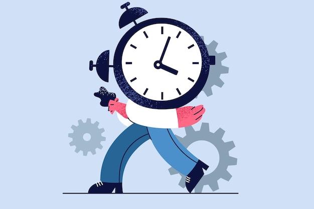 Zeitdruck, überlastung, work-burnout-konzept