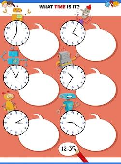 Zeiterziehungsaufgabe mit robotern erzählen