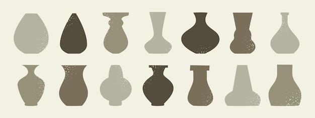 Zeitgenössische porzellankeramikvasen handgezeichnete doodle-keramik